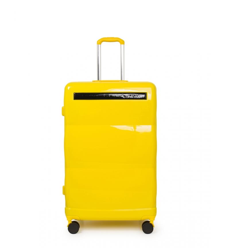 Comprar Calvin Klein Mala grande para voar amarela -78,5x51,5x30,5cm