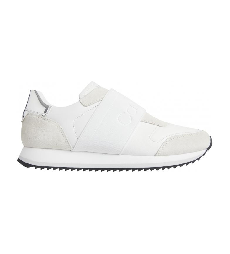 Calvin Klein Elastic Runner white leather sneakers