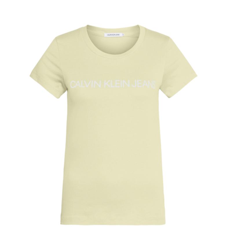Comprar Calvin Klein T-shirt gialla con logo istituzionale