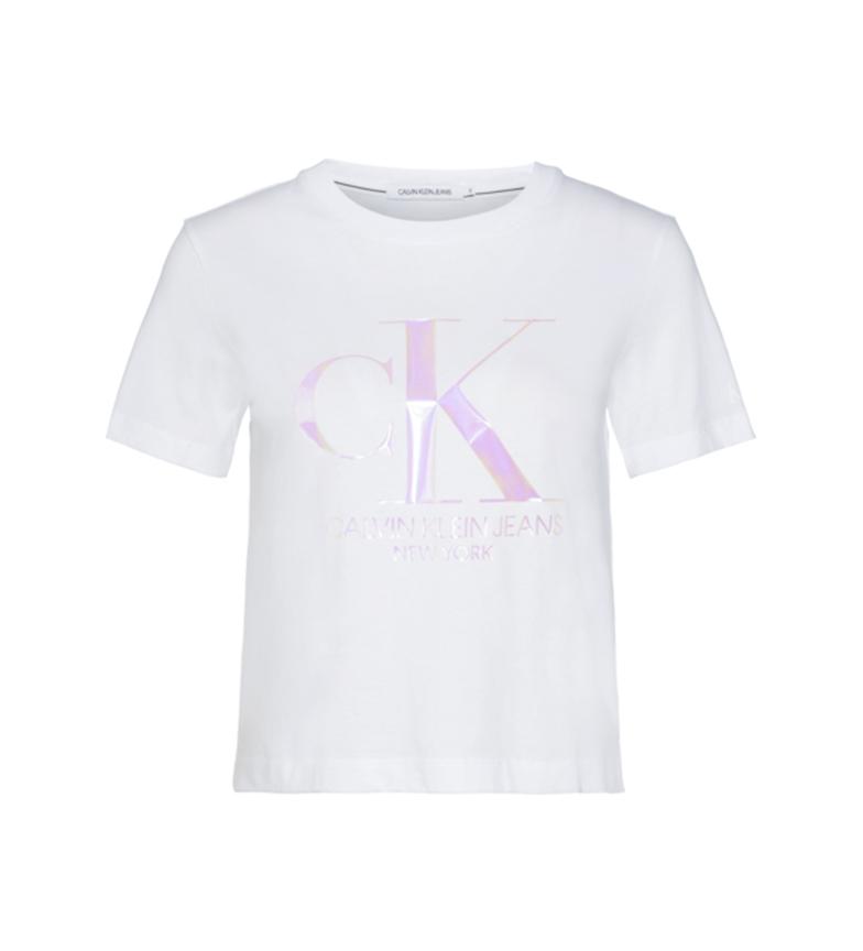 Comprar Calvin Klein T-shirt bianca Iridiscent CK