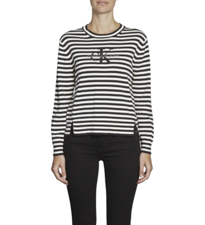 Comprar Calvin Klein Maglione Monogram Embro nero, bianco
