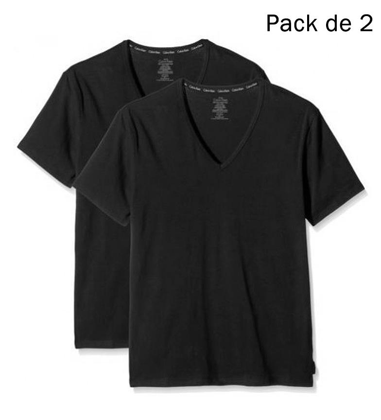 Comprar Calvin Klein Pack 2 T-shirt Tee-shirt col V noir