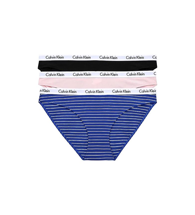 Comprar Calvin Klein Confezione da 3 slip classici Carousel 000QD3588E nero, rosa, blu