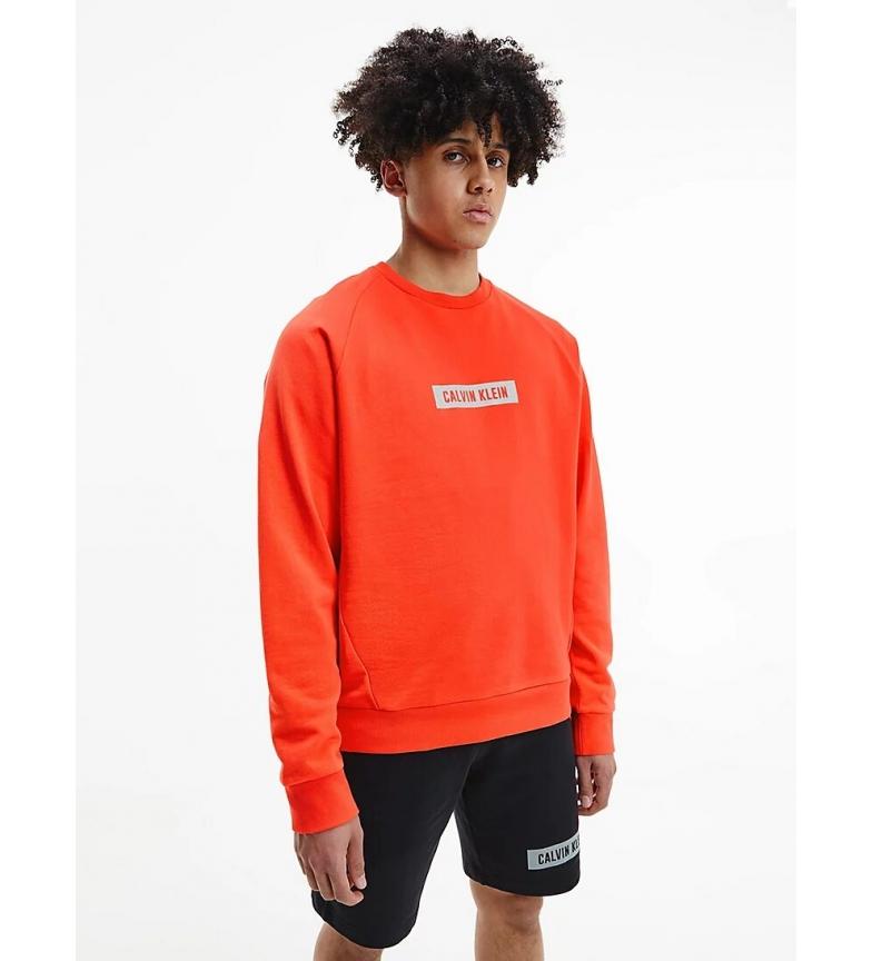 Calvin Klein Orange Cotton Fleece Sweatshirt