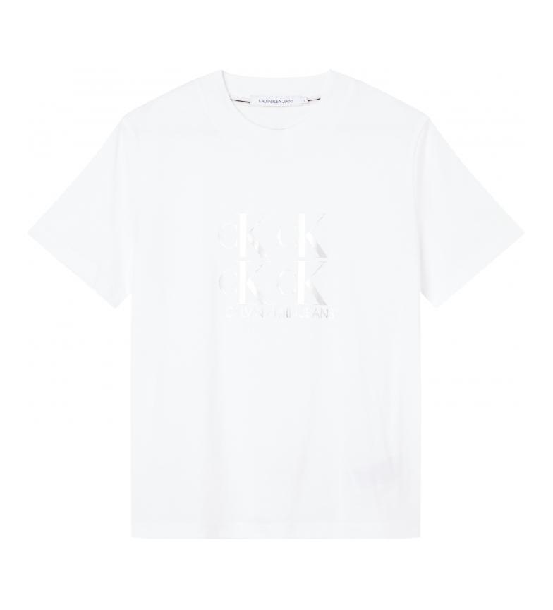 Comprar Calvin Klein T-shirt con logo Shine bianca