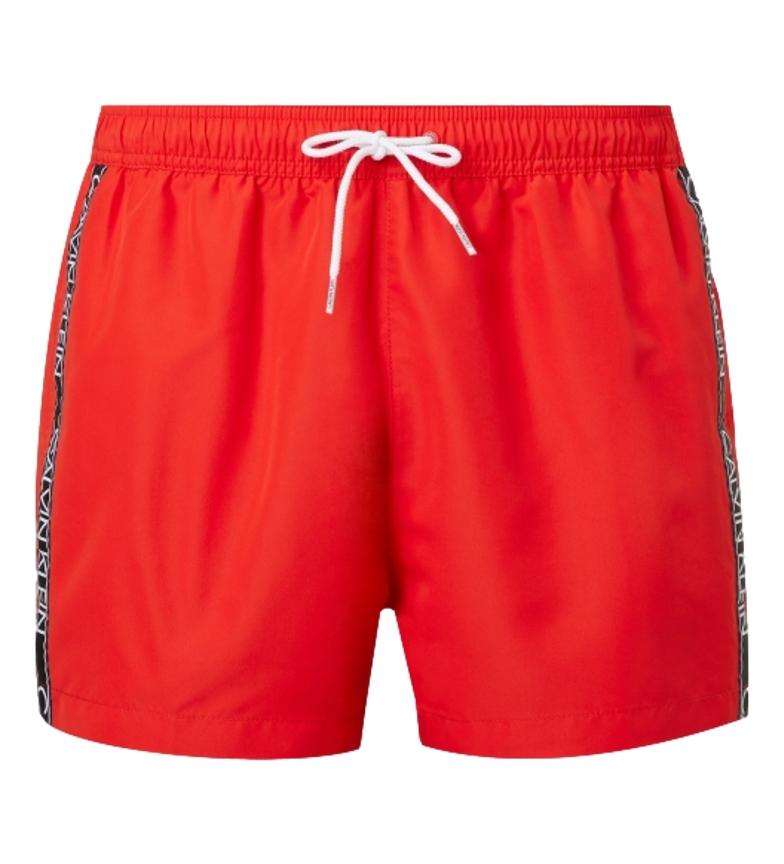 Comprar Calvin Klein Costume da bagno rosso con coulisse