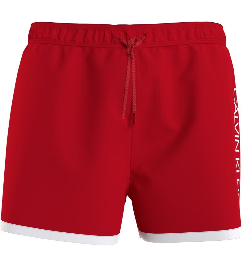 Comprar Calvin Klein Costume da bagno corto rosso runner