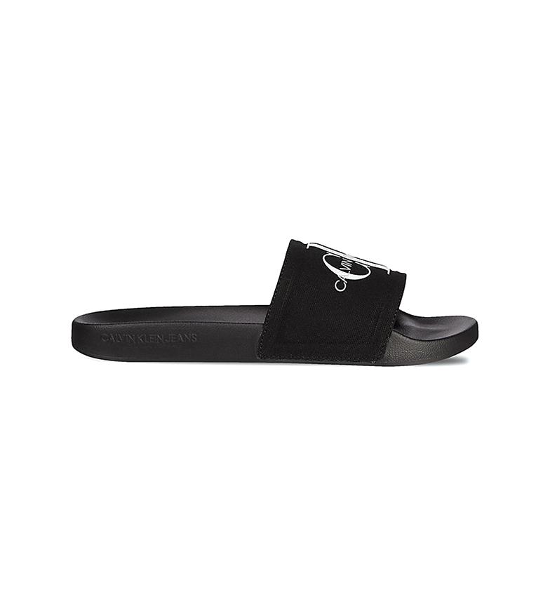 Comprar Calvin Klein Tongs noires Slide Monogram