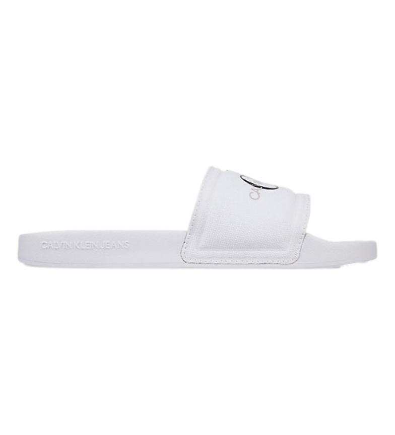 Comprar Calvin Klein Monogram flip flops white