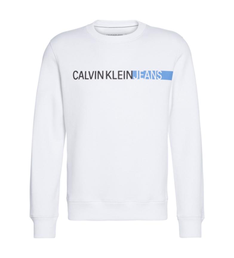 Comprar Calvin Klein Sweatshirt à rayures avec logo noir