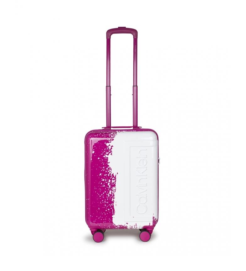 Comprar Calvin Klein O saco de cabina fúcsia Factory, branco -54x35,5x22,5cm