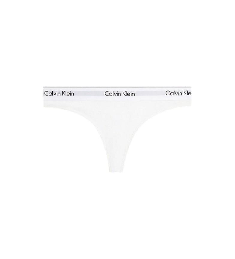 Comprar Calvin Klein Tanga de Algodão Branco Moderno