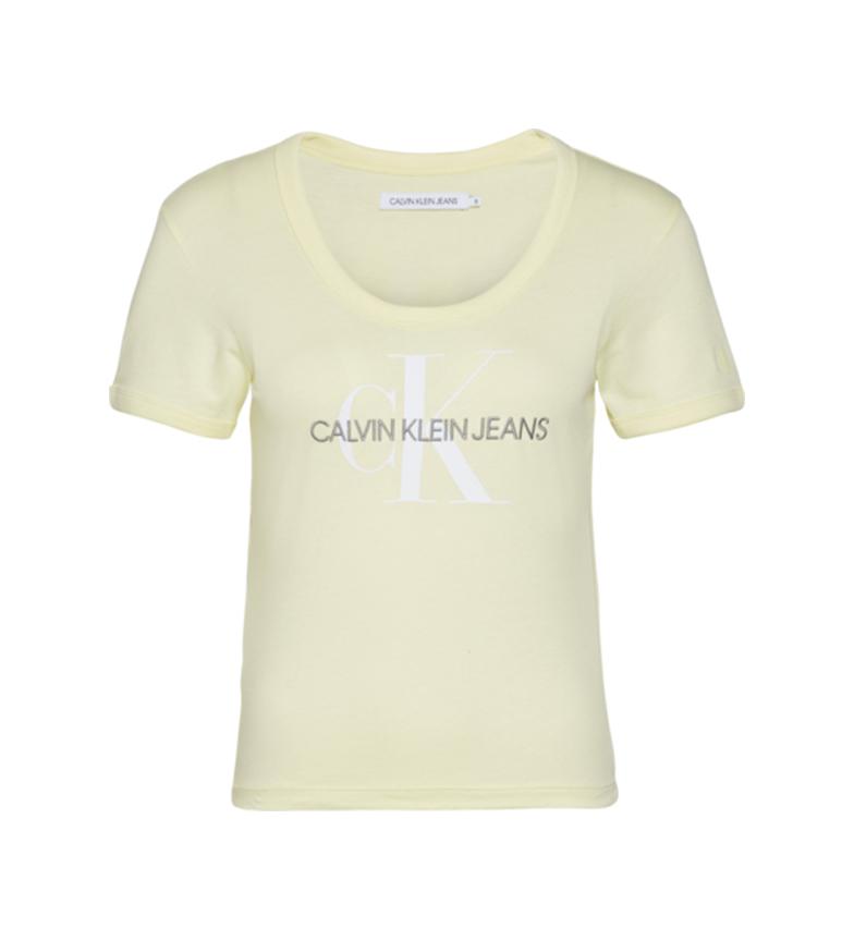 Comprar Calvin Klein Maglietta gialla della tintura vegetale