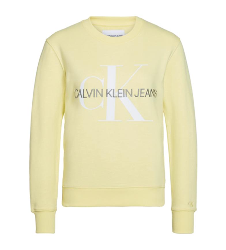 Comprar Calvin Klein Sweatshirt stretch à monogramme jaune