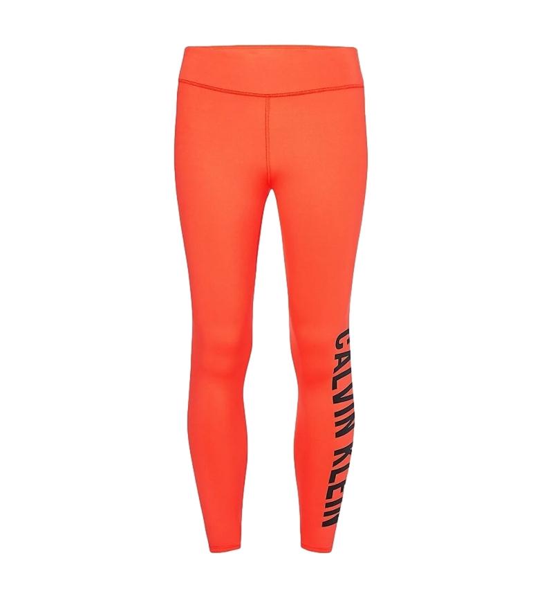 Comprar Calvin Klein Logotipo Laranja Leggings Desportivos