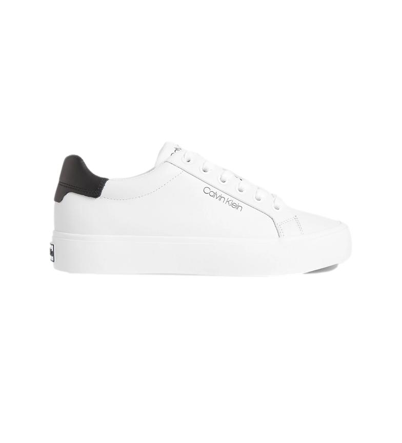 Comprar Calvin Klein Zapatillas de piel Vulc Lace Up LTH blanco
