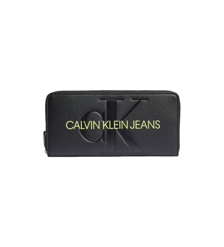 Calvin Klein Zip Around Coin Purse K60K608397 black -9.5x19x2.5cm
