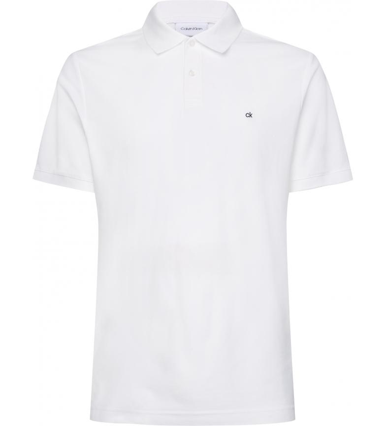 Comprar Calvin Klein Polo slim in piqué di cotone bianco