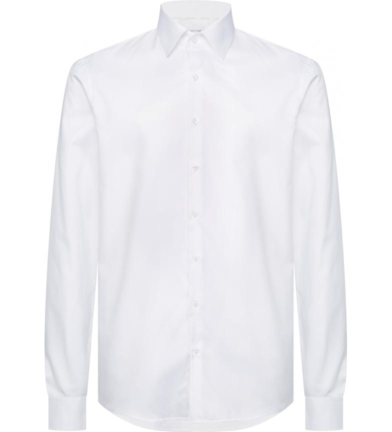 Comprar Calvin Klein Chemise fine en sergé de coton blanc