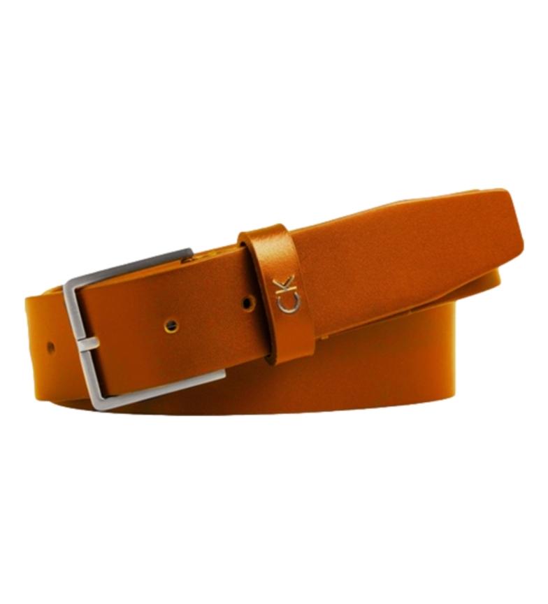 Comprar Calvin Klein Cinturón de piel Formal  Belt mostaza -ancho 3,5cm-