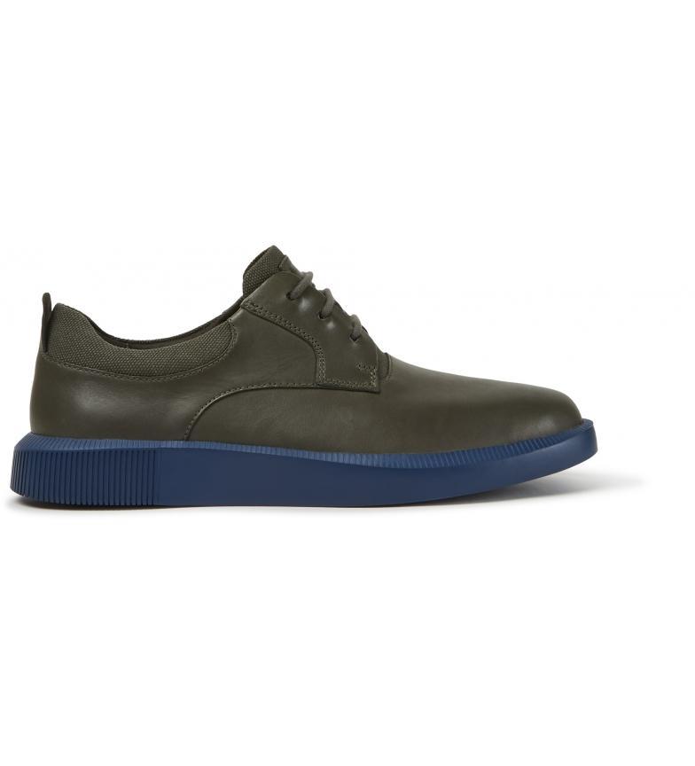 CAMPER Bill scarpe in pelle verde, blu