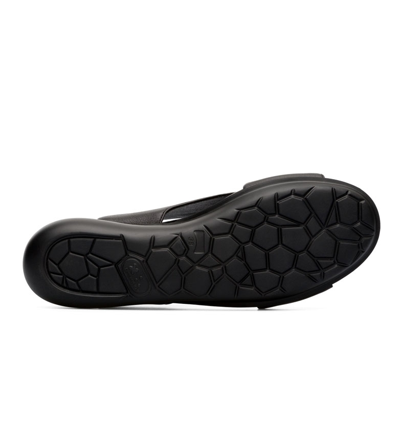 Comprar CAMPER Sandálias de couro balão preto - Altura da cunha: 5,1 cm