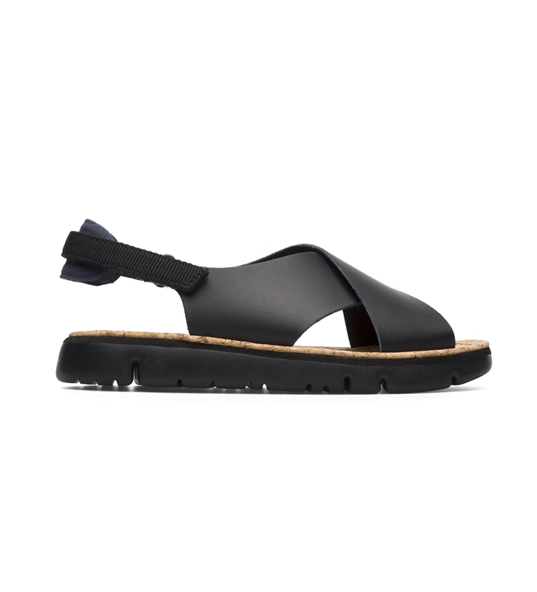 Comprar CAMPER Sandálias de couro de lagarta preta