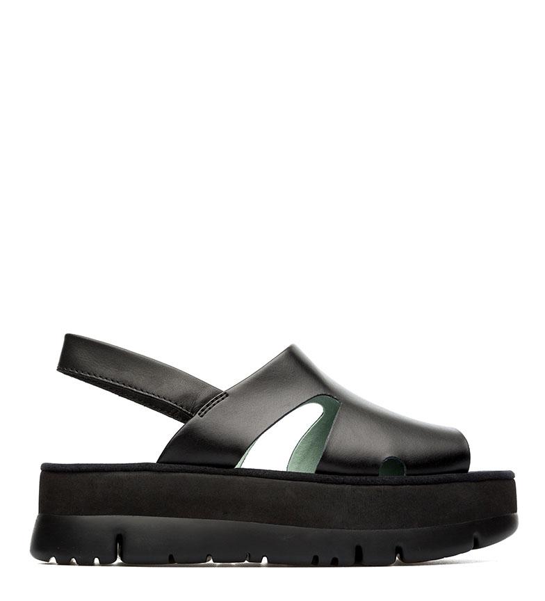 Comprar CAMPER Sandalias de piel Oruga negro -Altura plataforma: 4,2cm-