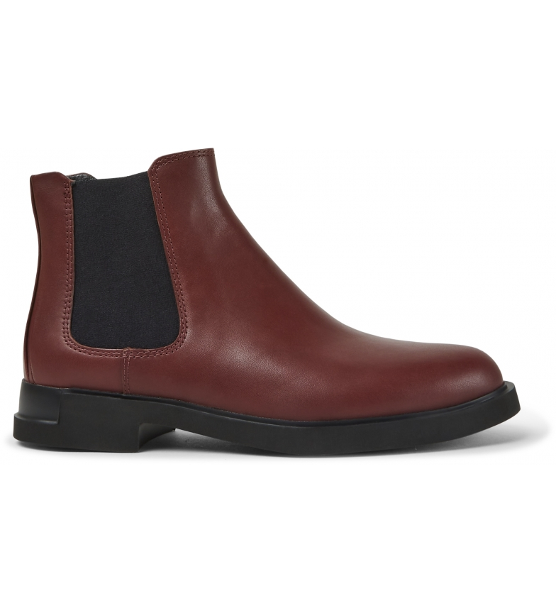 CAMPER Iman burgundy leather ankle boots
