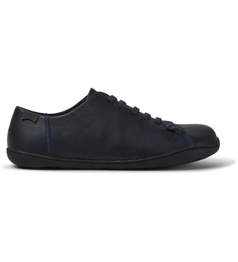 CAMPER Zapatillas de piel Peu azul marino