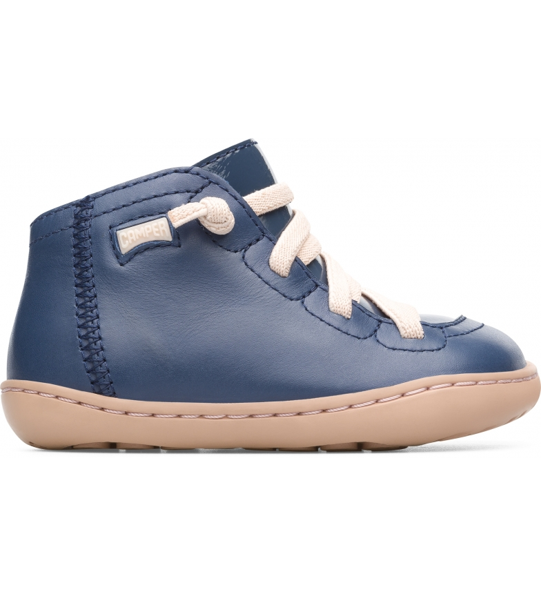 CAMPER Cami Leather Ankle Boots FW azul