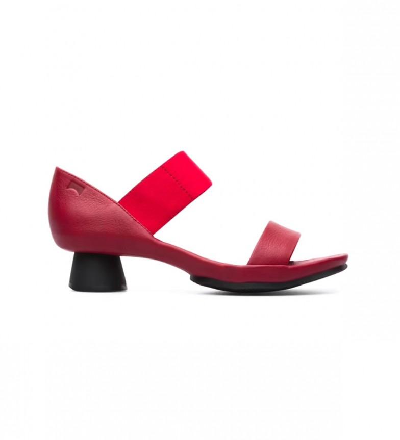 Comprar CAMPER Va bene sandali in pelle rossa - altezza tacco: 4,8 centimetri