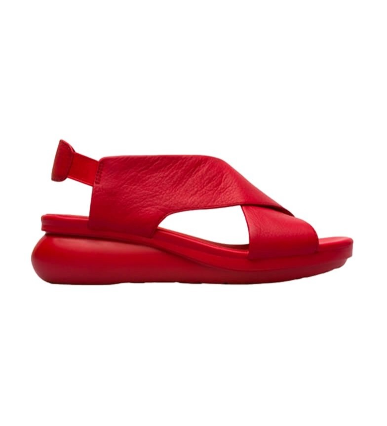 Comprar CAMPER Red Balloon leather sandals - Wedge height: 5.1cm