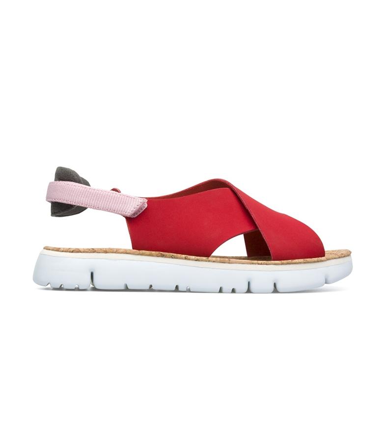 Comprar CAMPER Sandali rossi in pelle di cinghiale