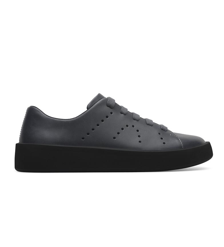 Comprar CAMPER Sapatos de Couro Courb Cinzento