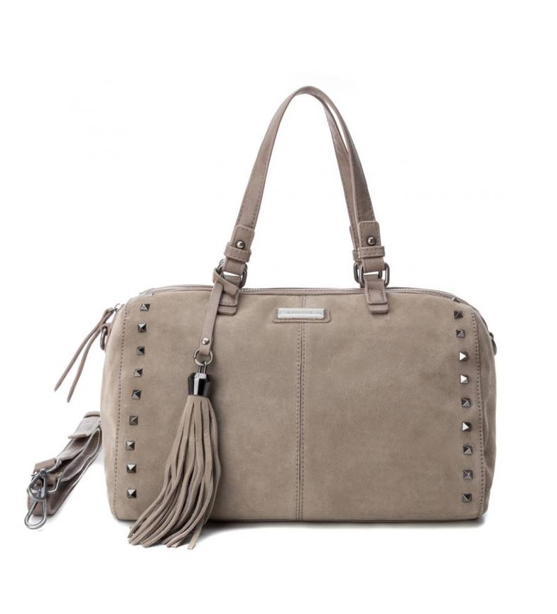 Comprar Carmela Bolso de piel 086093 taupe -19X33X16cm-