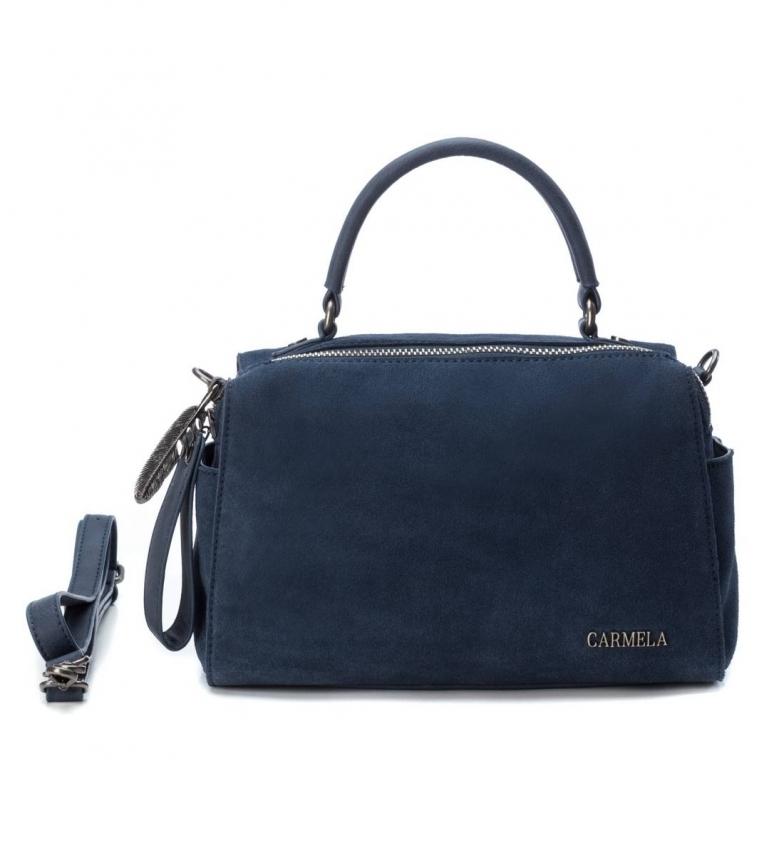Comprar Carmela Leather bag 083309 navy -14x27x17cm