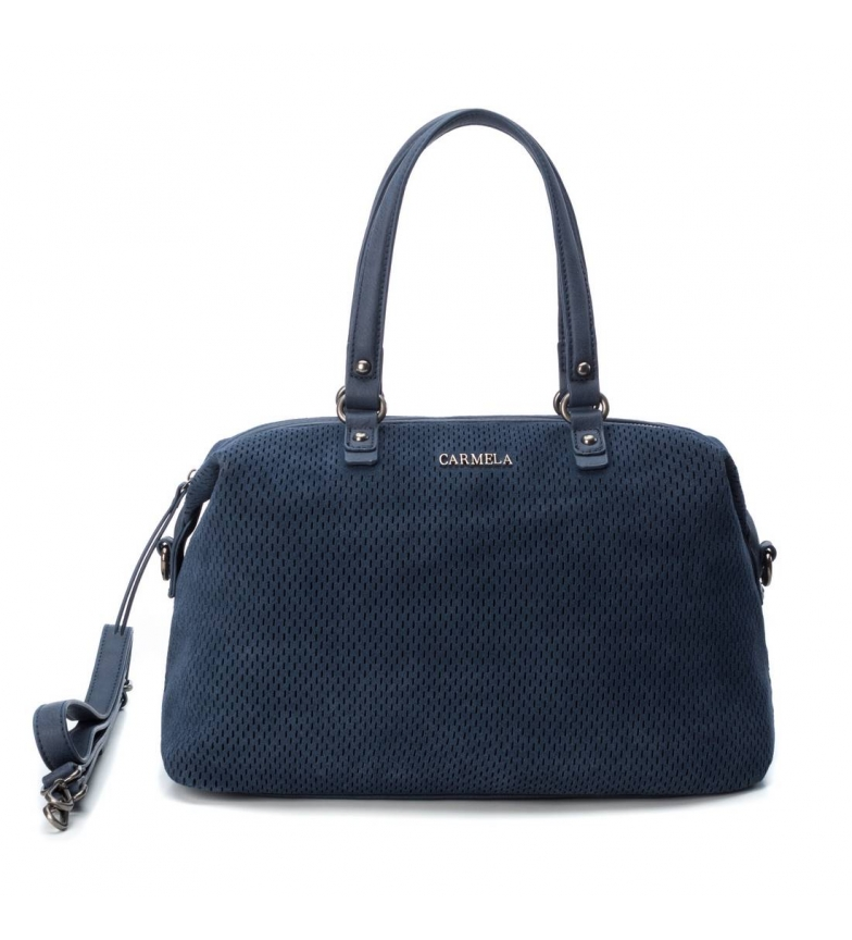 Comprar Carmela Bolso de piel 083311 marino -24x34x1 cm-
