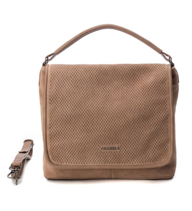 Comprar Carmela Leather bag 083312 taupe -12x30x29cm