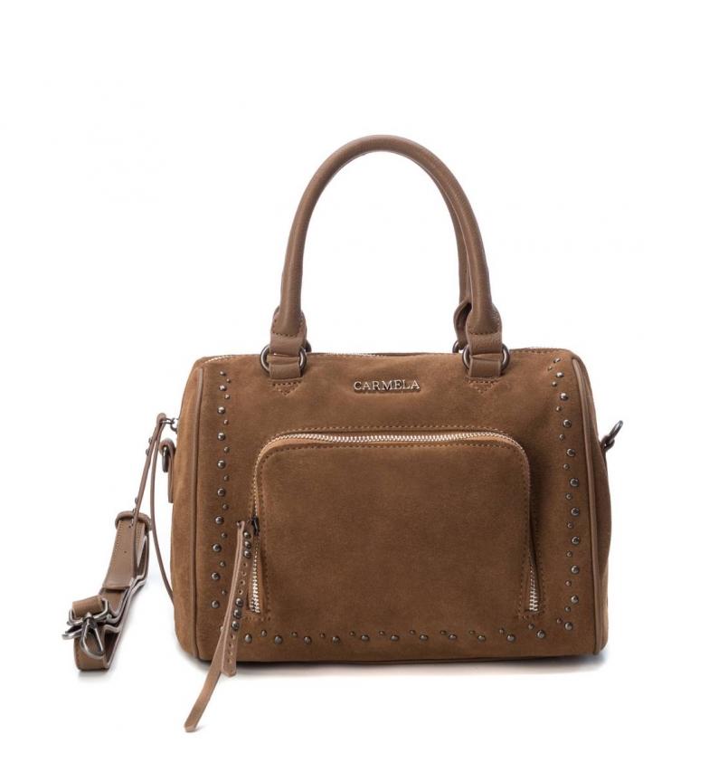 Comprar Carmela Leather bag 083313 camel -12x26x22cm