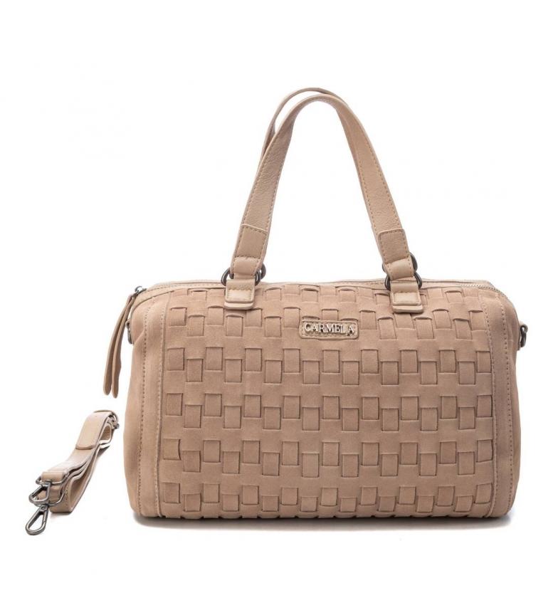 Comprar Carmela Bolsa feminina 086516 -22 x 32 x 16 cm - marrom, bege