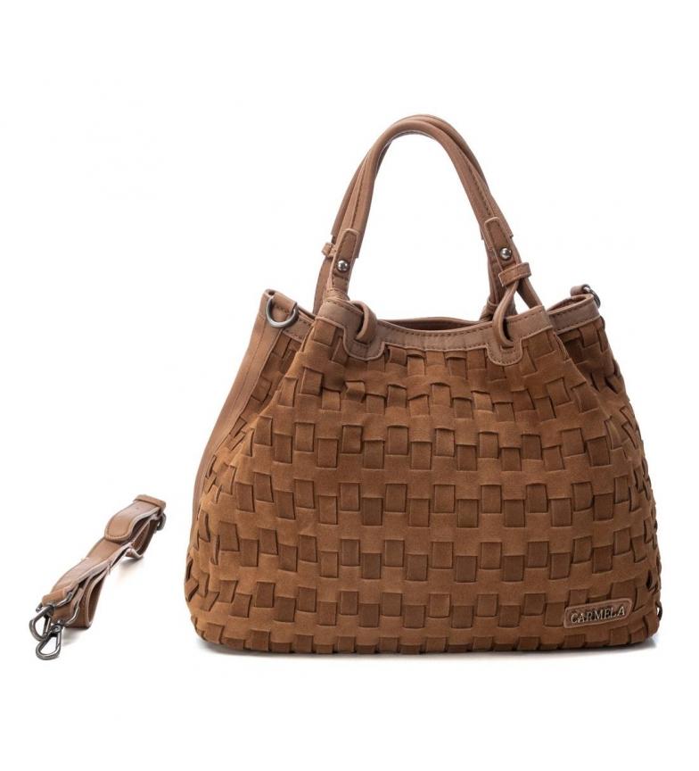 Comprar Carmela Leather handbag 086517 -24x37x16cm- brown