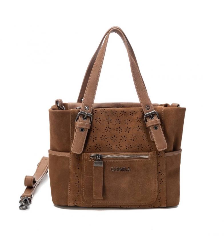 Comprar Carmela Bolsa de mão 086523 -23 x 30 x 14 cm- camelo