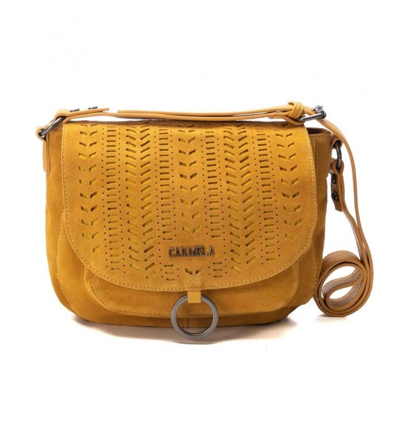 Comprar Carmela Bolsa de Couro 086529 -25x29x10cm- mostarda
