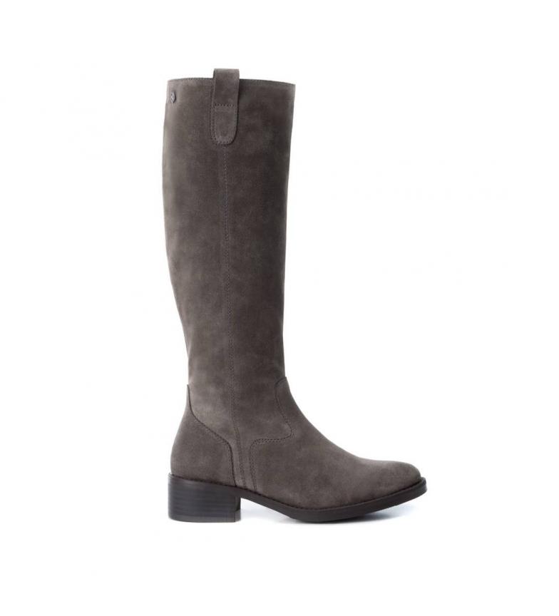 Comprar Carmela Bota de piel plana 066391 gris -Altura tacón: 4cm-