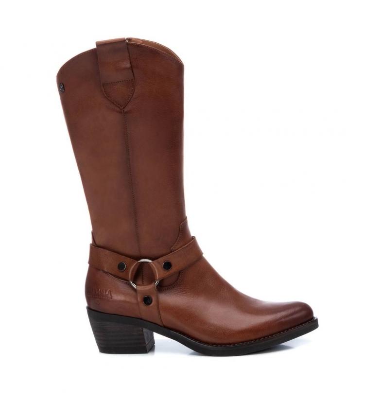Comprar Carmela Leather boots 067385 camel -heel height: 5cm