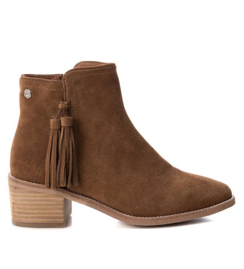 Comprar Carmela Leather boot cow boy wide heel 066698 camel -heel height: 6cm