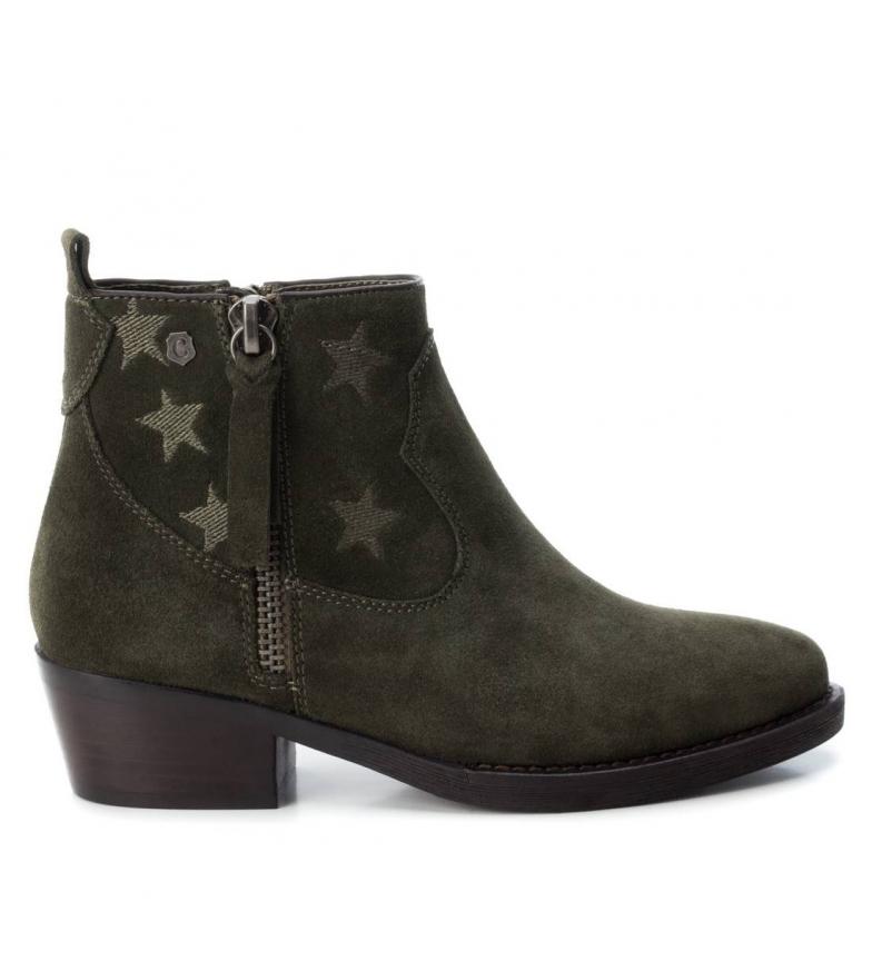 Comprar Carmela Leather ankle boots 066371 khaki -Heel height: 4cm