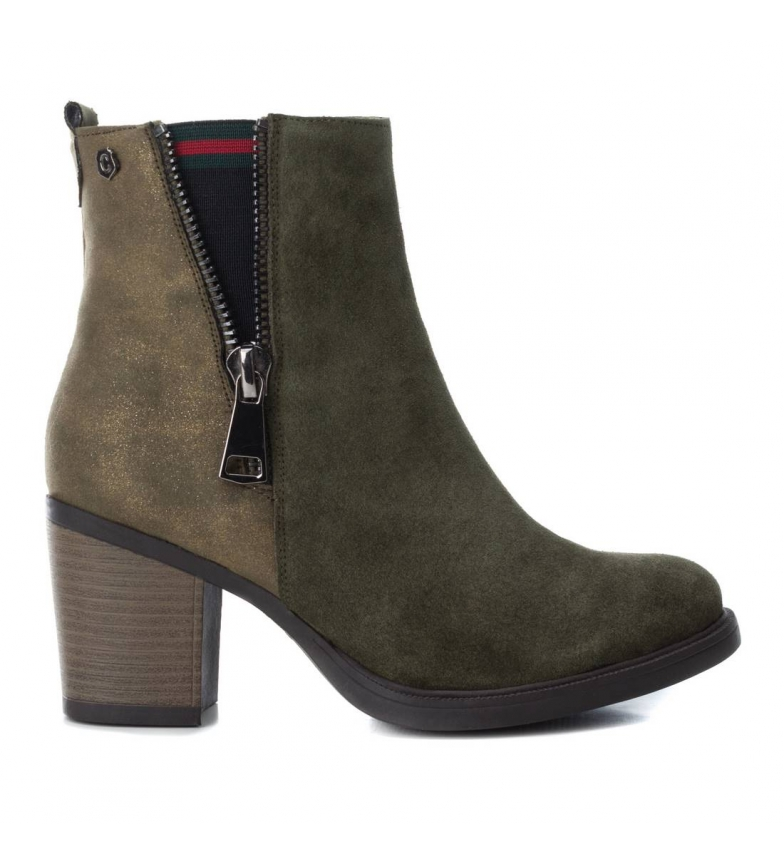 Comprar Carmela Leather boots 066600 khaki -Heel height: 7cm