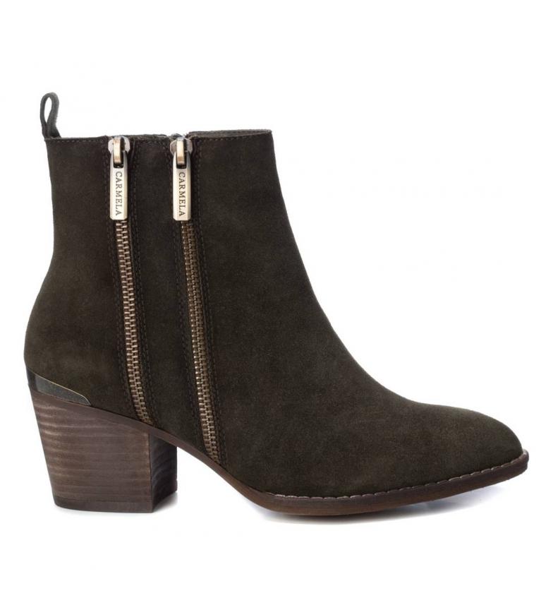 Comprar Carmela Bottines en cuir 066830 kaki - Hauteur du talon : 6cm